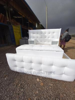 5×6 Leather Bed + Sidedrawers + Ottoman | Furniture for sale in Nairobi, Nairobi Central