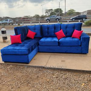Modern L Shape Blue Sofa | Furniture for sale in Nairobi, Kahawa
