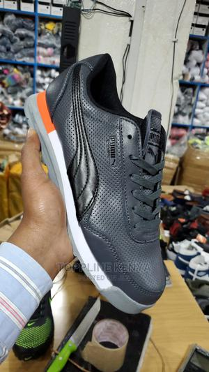 Grey-Black Leather Puma Jogger Sneakers White Sports Shoe | Shoes for sale in Nairobi, Nairobi Central