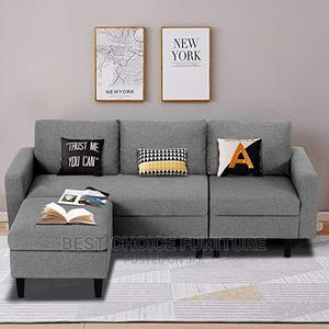 3 Seaters Contemporary Design Sofa With Custom Pouf Stands | Furniture for sale in Nairobi, Kahawa