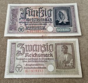 German Money Third Reich Reichsmark Banknotes 1940 | Arts & Crafts for sale in Kilifi, Mtwapa