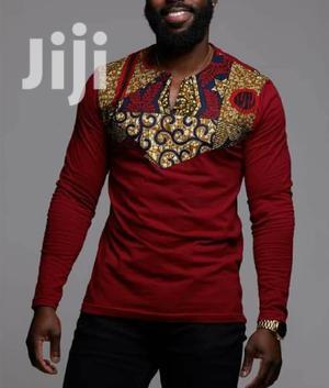 Ankara Detail T-shirts. ( Long And Short Sleeved ) | Clothing for sale in Nairobi, Nairobi Central