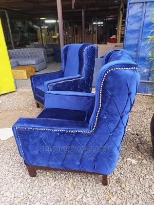 Blue Modern Wing Chairs | Furniture for sale in Nairobi, Kahawa