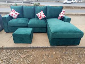 5 Seater L Shape Green Sofa | Furniture for sale in Nairobi, Kahawa