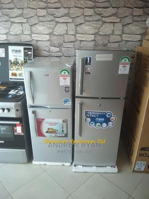 Mika 138l Double Door Fridge. Silver Colour   Home Appliances for sale in Nairobi, Embakasi