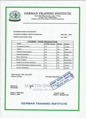 Open Position for Cook/Chef   Restaurant & Bar CVs for sale in Nakuru, Nakuru Town West