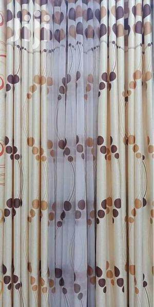 Brown Theme Polker Dot Printed Curtain | Home Accessories for sale in Nairobi, Donholm