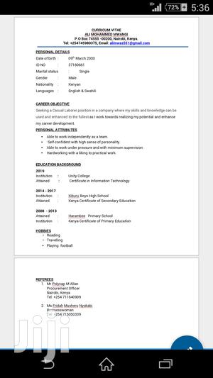 Sales Telemarketing CV | Sales & Telemarketing CVs for sale in Nairobi, Makadara