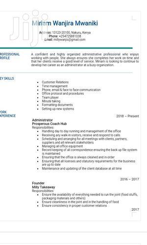 NGO Jobs In Nakuru | Human Resources CVs for sale in Nakuru, London