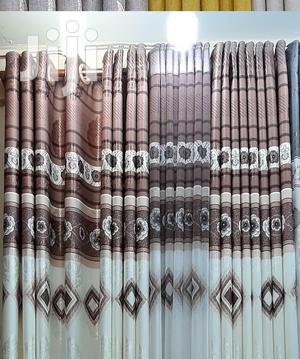 Diamond Print Brown and Cream White Curtain | Home Accessories for sale in Nairobi, Nairobi Central