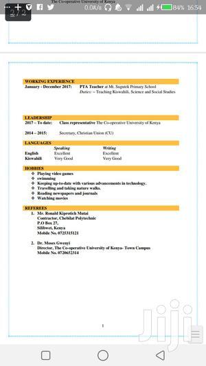 Finance | Accounting & Finance CVs for sale in Nairobi, Imara Daima