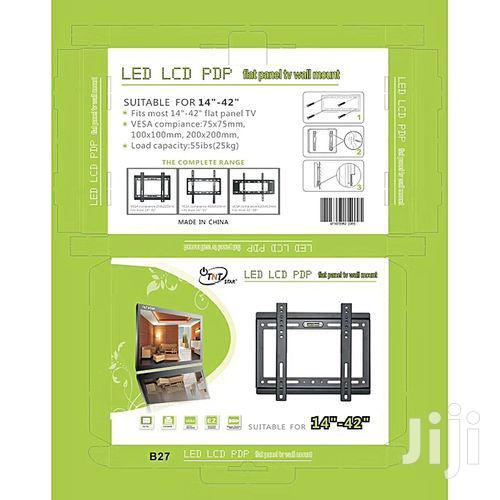 Generic 14''- 42'' TV Wall Bracket Holder - Flat Panel - Black