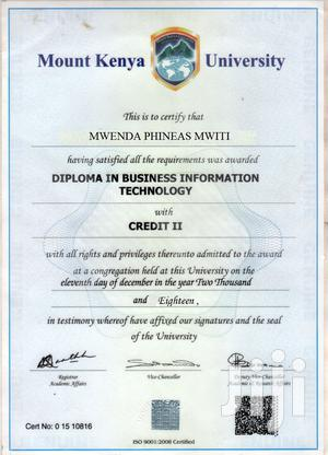 Advertising & Marketing CV | Computing & IT CVs for sale in Meru, Municipality