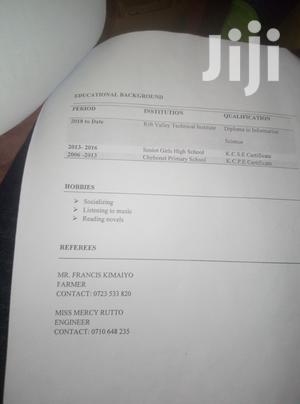 Advertising & Marketing CV | Quality Control & Assurance CVs for sale in Elgeyo-Marakwet, Kamariny
