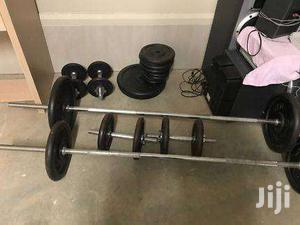 Standard 1-inch Cast Iron Weight Plates And Bars | Sports Equipment for sale in Nairobi, Nairobi Central