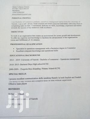 Advertising & Marketing CV | Quality Control & Assurance CVs for sale in Nyali, Ziwa la Ngombe