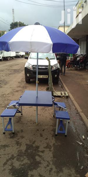 Portable Folding Picnic Table And Chairs Set With Umbrella   Camping Gear for sale in Nairobi, Nairobi Central