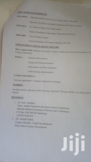 Research & Survey CV   Sports Club CVs for sale in Bahati, Kiamaina