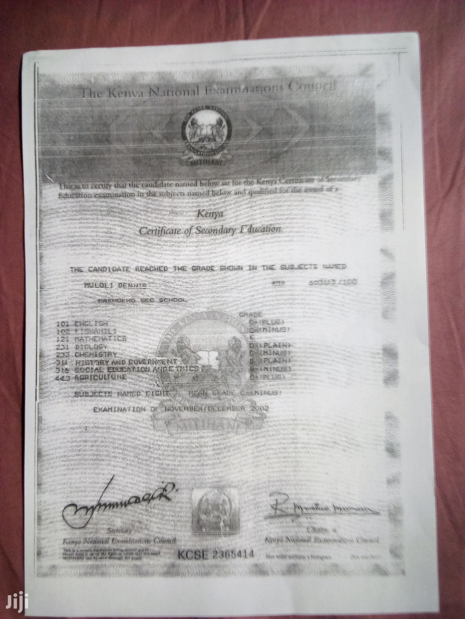 Personal Driver | Driver CVs for sale in Dagoretti, Nairobi, Kenya