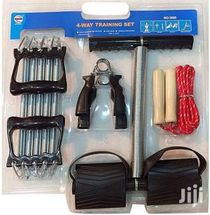 4 Way Training Set Tummy Trimmer Chest Expander Skip Rope Hand Grip | Sports Equipment for sale in Nairobi, Nairobi Central