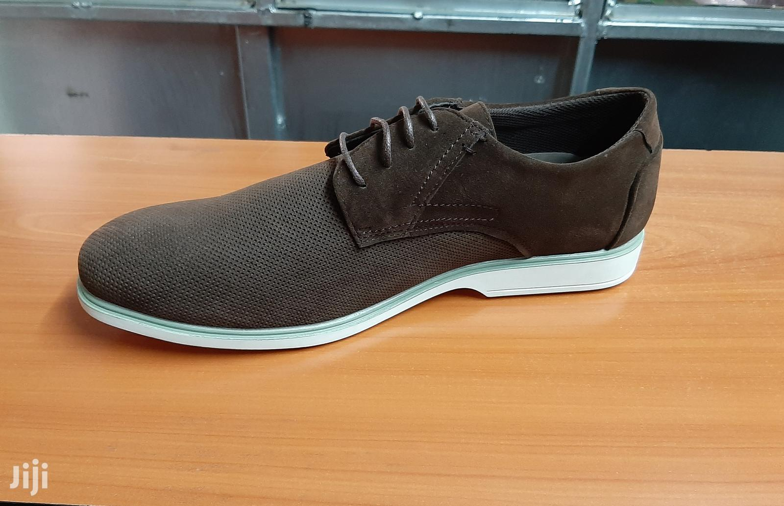 Italy Suede Leather Men Shoes Oxford Casual Classic Sneakers-Brown | Shoes for sale in Nairobi Central, Nairobi, Kenya